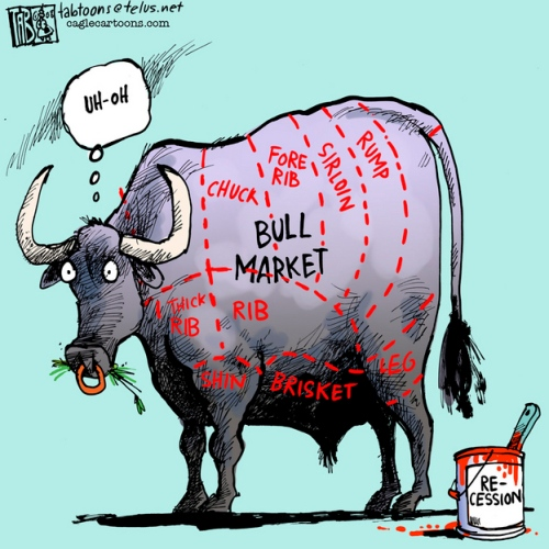 Cartoon on the 2011 bull stock market