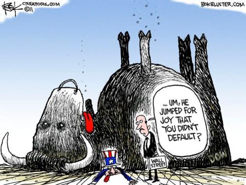 Cartoon on 2011 bull stock market