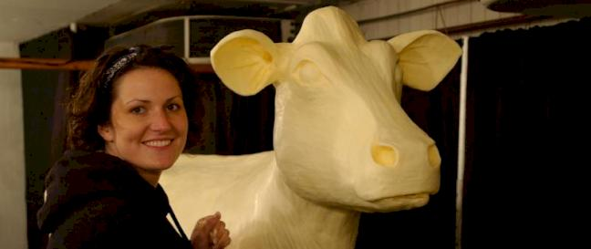 Butter cow by Sarah Pratt