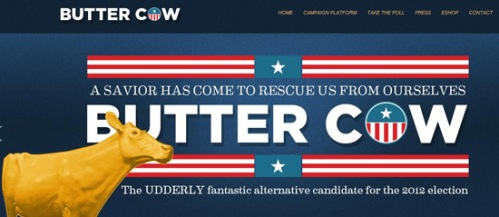 Butter cow running for US president in 2012