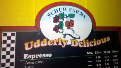 Udderly delicious coffee shop