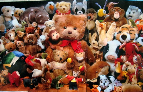 Can you see what I see? book - stuffed animals and stuffed cow