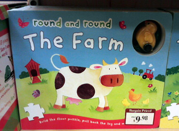 Again, another book with cows at Barnes & Noble