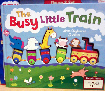 The busy little train book