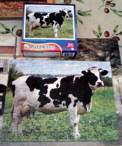 100-piece cow puzzle