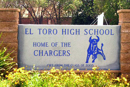 Bull logo at El Toro High School