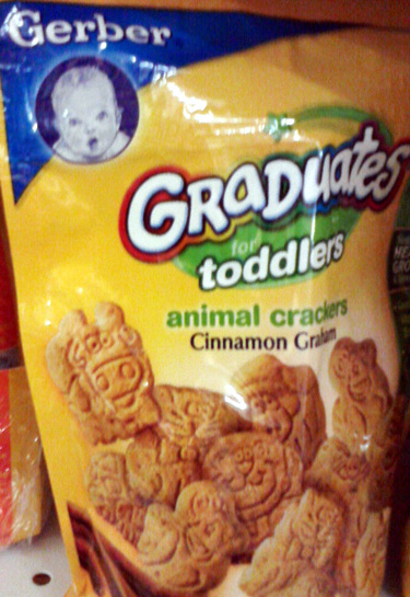 Gerber Graduates animal crackers with a cow