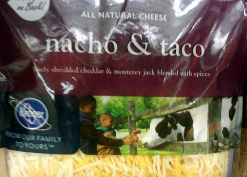 Kroger nacho & taco cheese with a cow