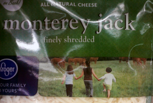 Kroger monterey jack cheese with a cow