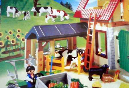 Playmobil catalog with farm cows