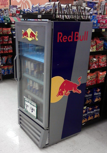 Red Bull POP display at Food4Less