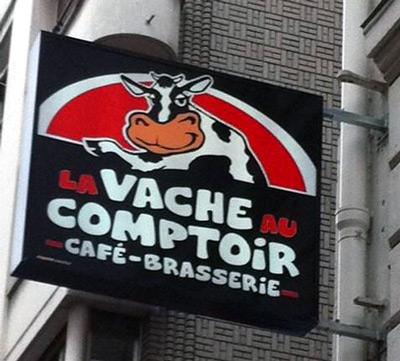 Logo for la vache au comptoir cafe brasserie in Paris