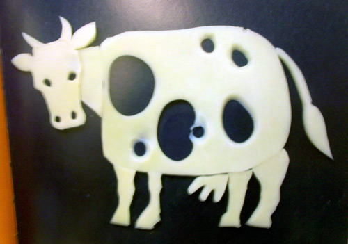 What is this? by Antje Damm - cow made out of cheese