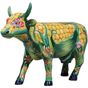 Corn on the cow - cow statue from the cow parade
