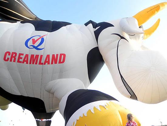 Cow balloon at Balloon Fiesta 2011 in Albuquerque, NM