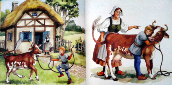 Jack and the Beanstalk - selling the cow
