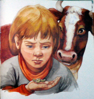 Jack and the Beanstalk - selling the cow for beans