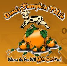 Oma's pumpkin patch logo