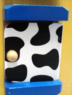Door on wooden farm activity cube