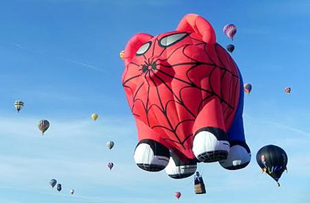 Spider-Man pig hot air balloon at Balloon Fiesta 2011