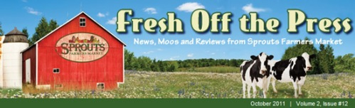 Email newsletter for Sprouts Marketplace with cows