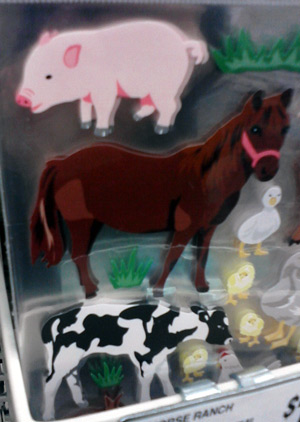 Cow stickers and farm animal stickers