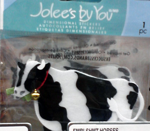 Large cow sticker