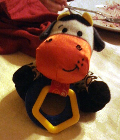 Baby toy cow rattle
