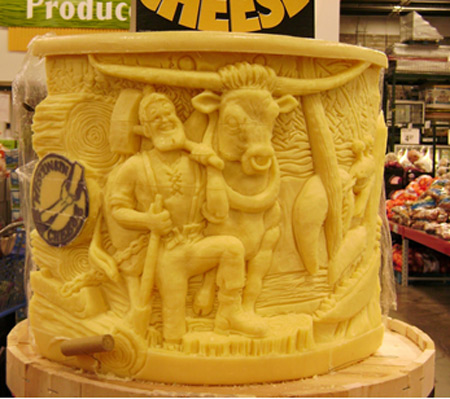 Cheese Lady sculpture