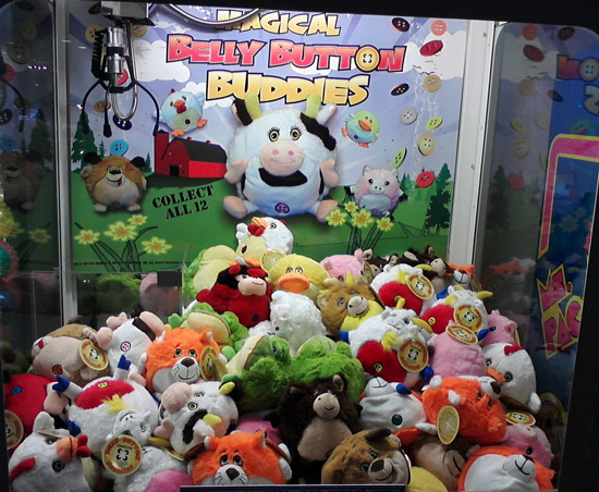 Claw machine with cow