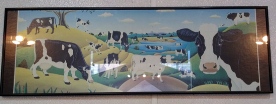 Dairy cow poster frame