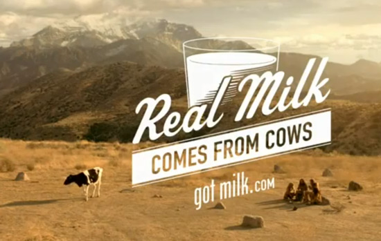 Got Milk commercial with cavemen