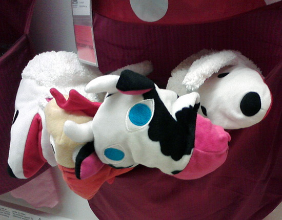 IKEA cow hand puppet