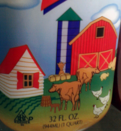 Lifeway plain kefir with cows on the farm