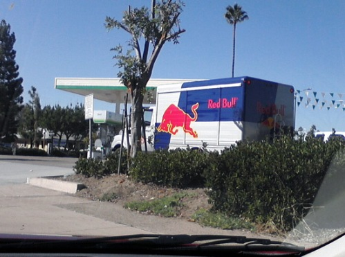 Red Bull logo on delivery truck