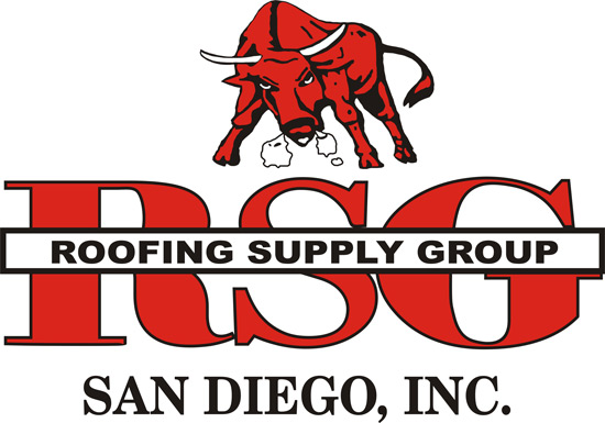 Red bull logo for San Diego Roofing Supply Group