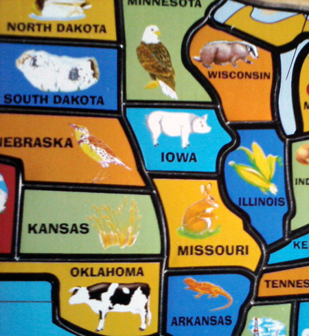 Get A Puzzle Map Of United States See A Cow Can You Guess On - Puzzle us map
