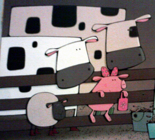 Round sheep and square cows in yours truly, Louisa book