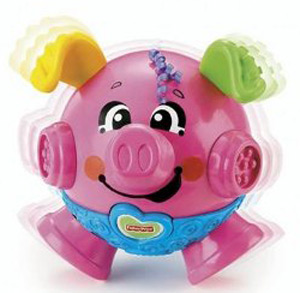 Fisher Price bounce and giggle pig baby toy