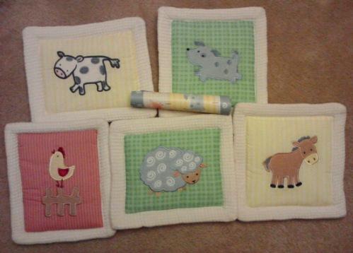 Farm animals for baby bedroom wall decor