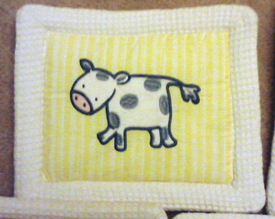 Cow wall canvas for baby bedroom decor