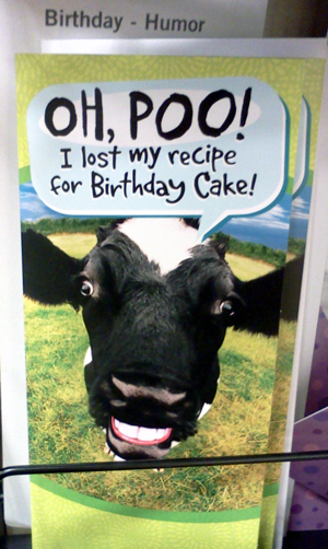 Its another funny yet gross cow birthday card every day i see a cow its another funny yet gross cow birthday card bookmarktalkfo Images