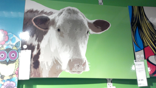 Large cow photo frame at IKEA