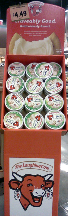 The Laughing Cow cheese POP display
