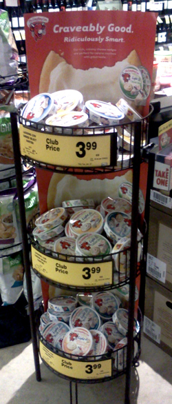 The Laughing Cow cheese display