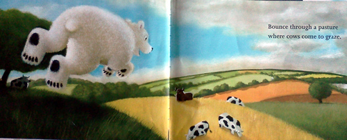 Hush little polar bear dreams of cows