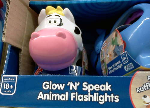 Cow flashlight