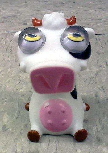 Weird looking cow toy from Michael's art & craft store