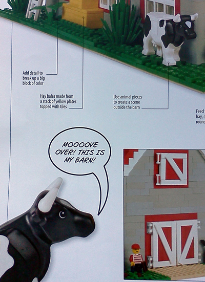 Lego cow with a nasty attitude