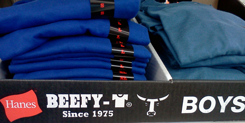 Hanes beefy T-shirts